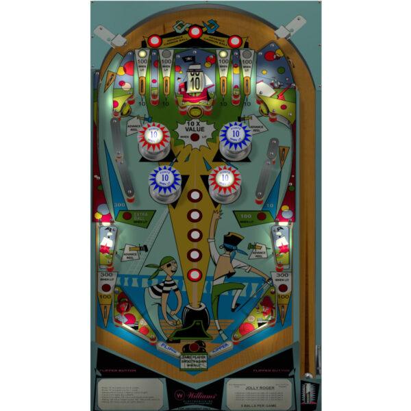 Jolly Roger Pinball Machine Playfield