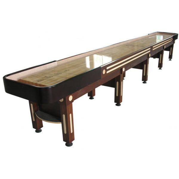 The Majestic Shuffleboard Table Walnut 20 Foot
