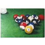 RACKED BILLIARD BALLS Oil Painting