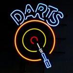 Darts Themed Neon Sign