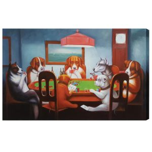 Dogs Playing Poker Wall Art