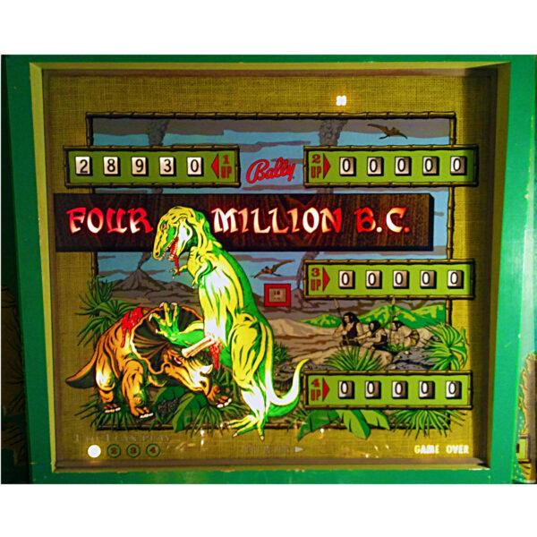 Four Million BC Pinball Machine Backglass 3