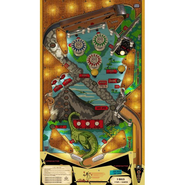 Four Million BC Pinball Machine Playfield