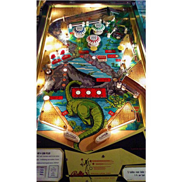 Four Million BC Pinball Machine Playfield Illuminated