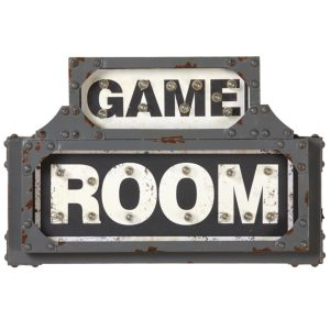 Metal Game Room Sign
