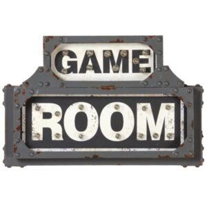 Metal Game Room Sign
