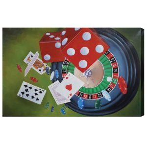 Roulette and Dice Oil Painting