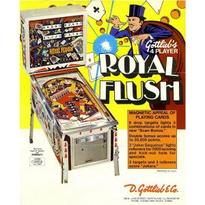 Royal Flush Pinball Flyer