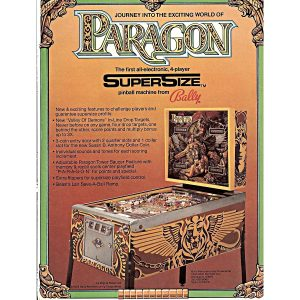 Paragon Pinball Machine Flyer