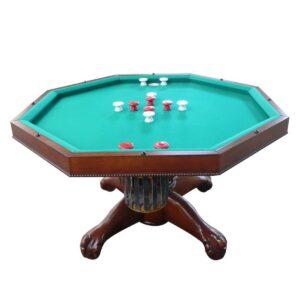 "3 in 1 Multi Table - Octagon 48"" Antique Walnut 1"