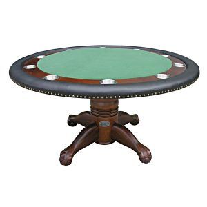 "Poker Table with Dining Top - 60"" Dark Walnut 1"