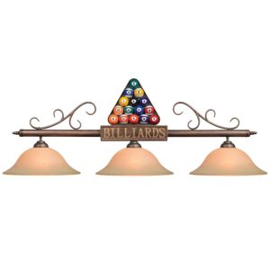 Racked Balls Billiard Light Fixture