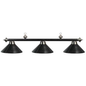 Three-Light Metal Billiard Light Fixture Black