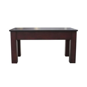 "36 Espresso Billiard Bench 300x300 - 36"" Espresso Billiard Bench"